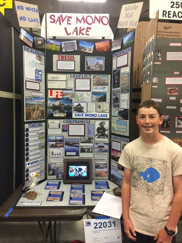 Zane Pert and his National History Day project