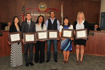 An image of the Orange County workers honored as the 2016 Classified School Employees of the Year