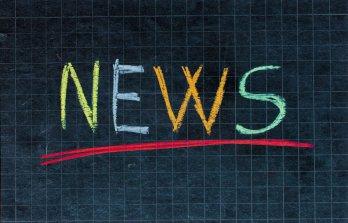 News chalkboard graphic