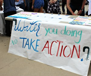 An image of a sign at the Water Expo at Brea High School