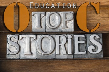 "A graphic that reads, ""OC Education Top Stories"""