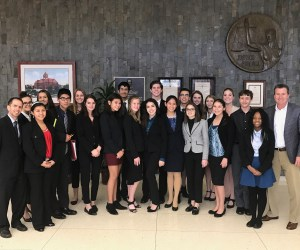 Trabuco Hills High School's mock trial team
