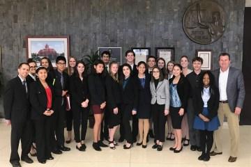 Trabuco Hills High School's mock trial team