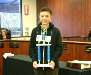 Orange County Spelling Bee winner Winston Zuo