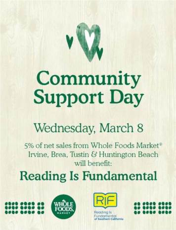Community Support Day flier