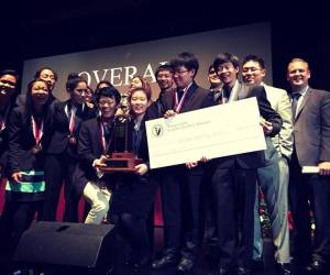 Woodbridge High students celebrate their victory at the Orange County Academic Decathlon Friday night