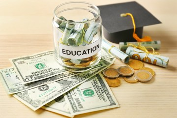 money in education jar