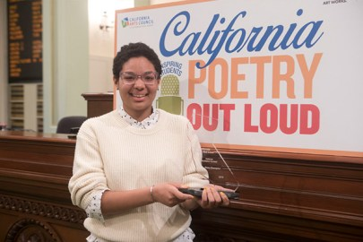 Alexis Rangell-Onwuegbuzia at the California Poetry Out Loud State Finals