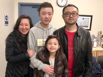 Orange County Spelling Bee winner Winston Zao and his family