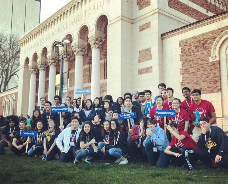 Orange County students at the California Academic Decathlon