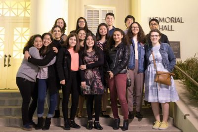 Students from El Modena High School's Friday Night Live chapter