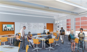 rendering of a science classroom