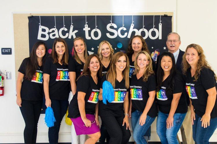 Teachers from Hazard Elementary School wearing matching shirts