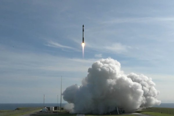 rocket launches into space