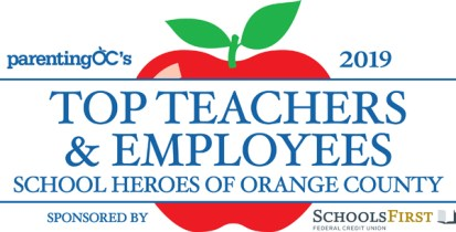 Parenting OC's Top Teacher Logo