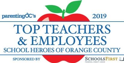 Parenting OC's Top Teacher Logo