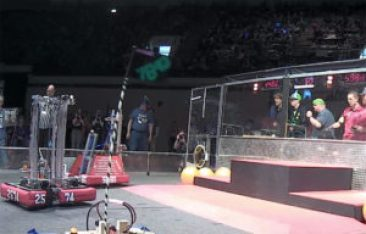 students control robots in a contest