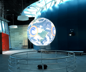Science on a Sphere globe at OCC's new Planetarium
