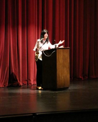 Joy Harjo on stage