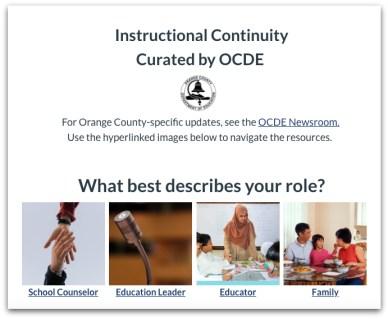Instructional continuity website screenshot