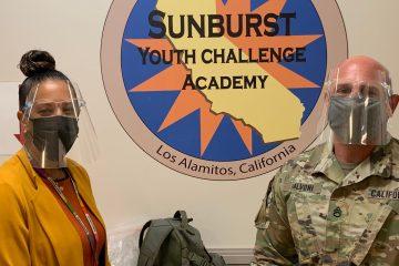 Sunburst Principal Dinah Ismail and Admissions Coordinator Sergeant Ryan Salvoni