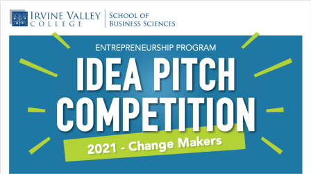 Irvine Valley College Idea Pitch Competition graphic