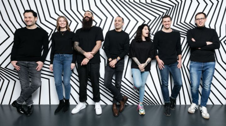 Gantimur Meissner, Ann-Kristin Mackensen, Mikha Makhoul, Christian Knörle, Katy Campbell, Jan Feiling, Matthias Hub, l-r, Team Forward 31, 2020, Porsche AG