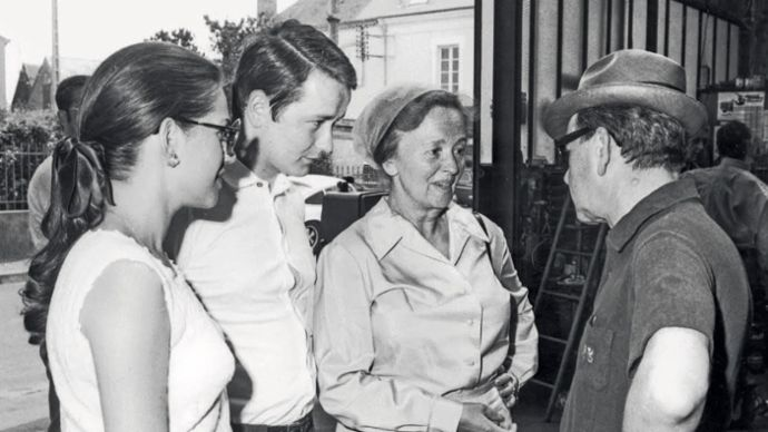 Dr. Wolfgang Porsche, Dorothea Porsche, Ferry Porsche, l-r, Le Mans, 1970, Porsche AG