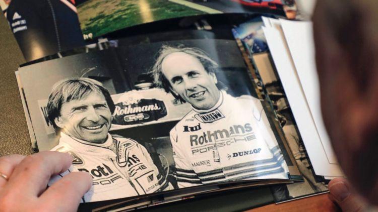 Derek Bell, Hans-Joachim Stuck, l-r, Le Mans, 1985, Porsche AG