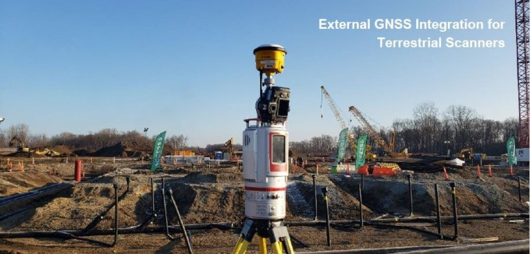 External GNSS Integrations for Terrestrial Scanner