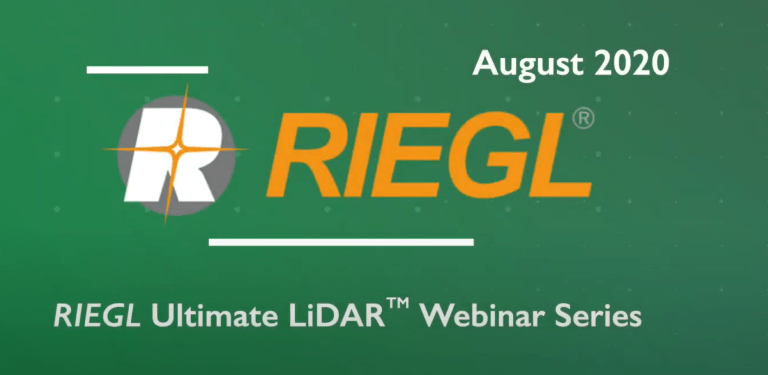 RIEGL Ultimate LiDARTM Webinar Series