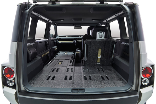 The large interior can store items up to approximately 3 meters long