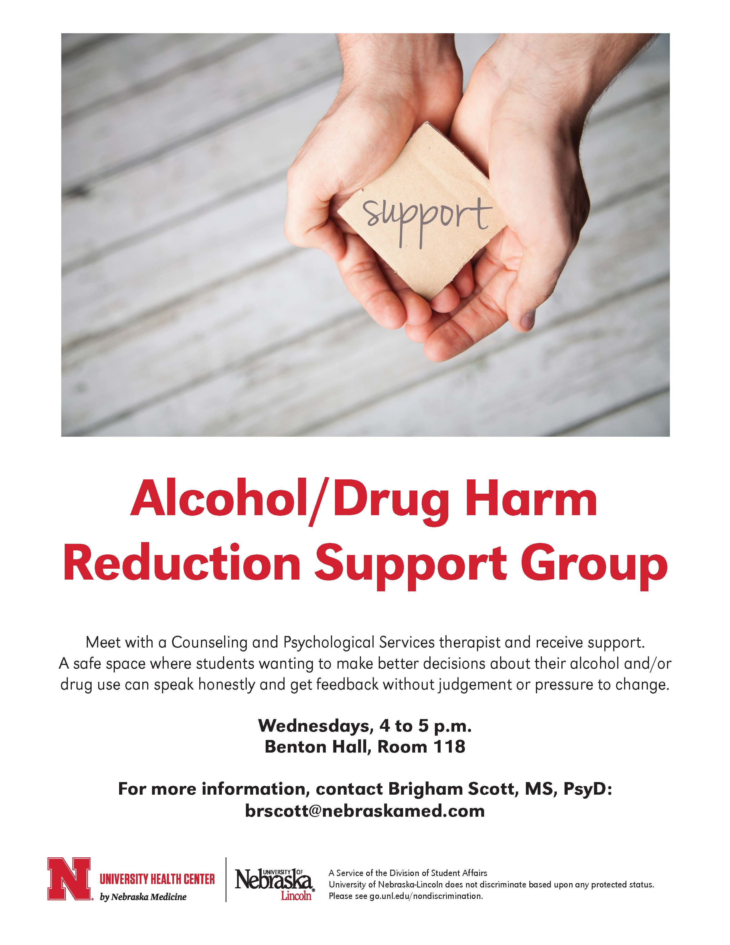 Caps Offers Free Alcohol Drug Harm Reduction Support Group