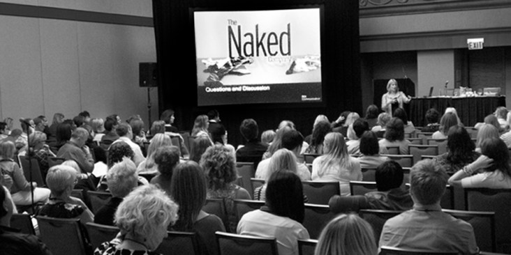 """""""Naked"""" is how Barbara Fagen-Smith, CEO of ROI Communications, sees companies as communications bypasses traditional channels. According to her, """"Organizations must engaged employees in today's transparent world."""" Photo: Ed Lallo/Newsroom Ink"""