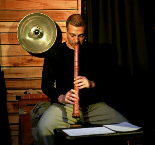 Helou is the man behind the shakuhachi. Source: Jad Safar