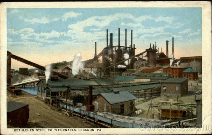 Bethlehem Steel Co.'S Furnaces Lebanon | Source: Harpel, Stationer