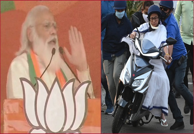 Didi what can I do if the scooty is destined to fall in Nandigram?: PM