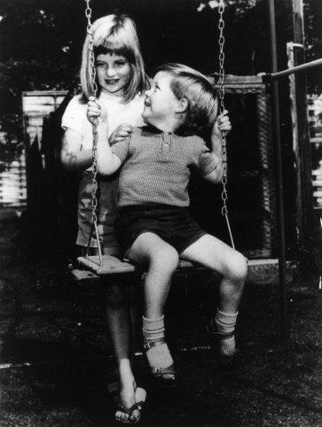 1967 г. Диана с братом Эрлом Спенсером