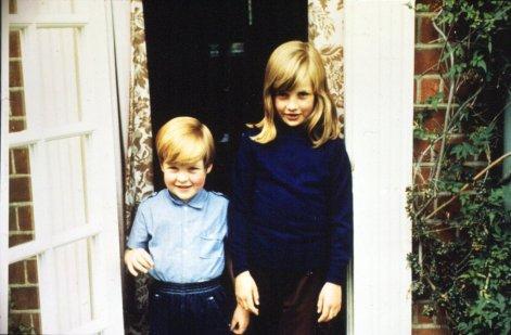 1968 г. Диана с братом Эрлом Спенсером