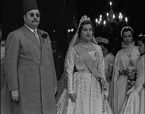 Королева Нариман с мужем королем Фаруком