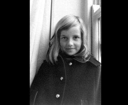 Диана в Лондоне в 7 лет
