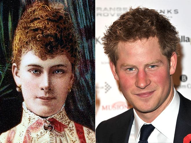 Королева Мэри и ее пра-правнук принц Гарри