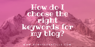 How do I choose the right keywords for my blog