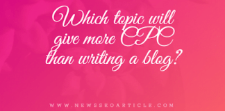 Which topic will give more CPC than writing a blog
