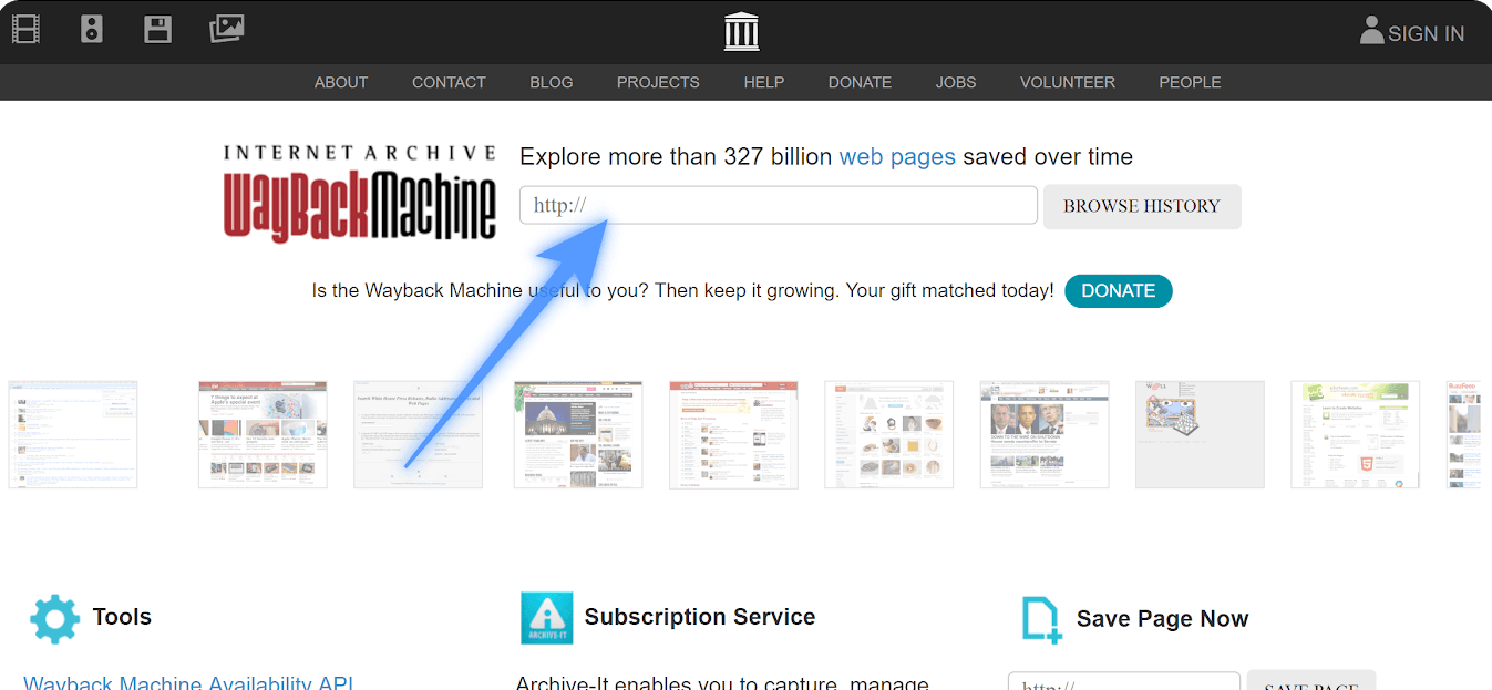 How to use the Wayback Machine?
