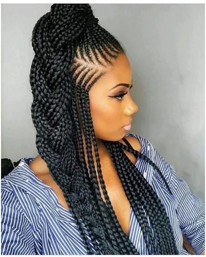 Wrap-around ponytail