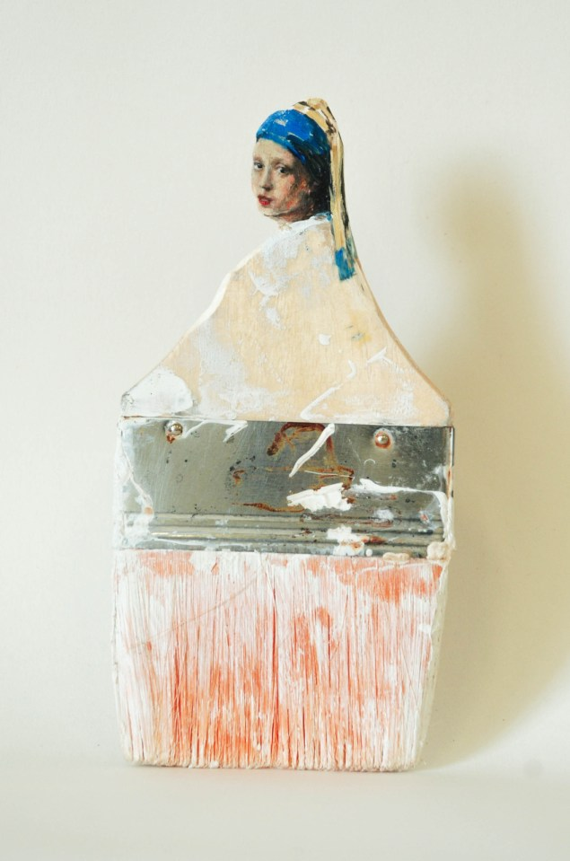 """""""Мир является Вашей устрицей"""" (2013). Масло на вырезанной кисти"""