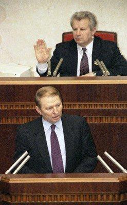 Александр Мороз и Леонид Кучма