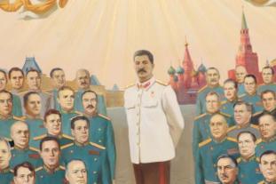 Сталин на иконе Александра Проханова во главе военачальников СССР и некоторых современных политиков