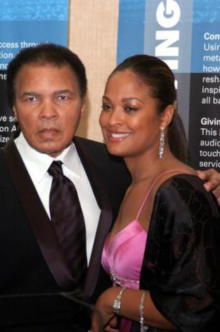 Former Heavyweight Champion Muhammad Ali and Daughter Laila